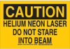 Radiation & Laser Sign -- 129165