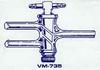 Double Oblique Teflon Stopcock -- VM735-03