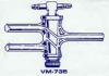 Double Oblique Teflon Stopcock -- VM735-01 - Image