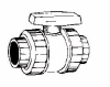 Safety Block True Union Ball Valve:Viton Soc/Thread -- VST8-030 Viton Soc/Thread -- View Larger Image