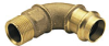 90° Elbow, (Press x Male NPT) -- View Larger Image