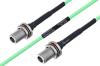 Temperature Conditioned N Female Bulkhead to N Female Bulkhead Low Loss Cable 8 Inch Length Using PE-P160LL Coax -- PE3M0222-8 -Image