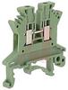 UK 1.5 N Green IEC Screw Clamp TerminalBlock - 30-14 AWG -- 70169324