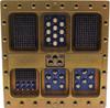 MIL-DTL-83527 Size 4A Receptacle (Quad) -- 83527-R-4A-C-A1-B12-C11T-D7C-E1-F7C