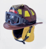 N6A Houston Leather Fire Helmets
