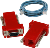 SeaI/O DB9 Female to RJ45 Adapter (RS-422 Pinout) and CAT5 7' Patch Cable (Blue) -- KT120