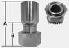 SHFBW SERIES - STAINLESS STEEL DIN 24° HEAVY -- SHFBW-20-38S - Image