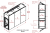3-Unit Tunnel Standard Profile Single Door Air Showers -- CAP701KD-ST3-55180