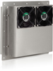"""Item # AAC-141-4XT-E-HC-NF, ThermoTEC™ Series - 800 BTU - Solid State Thermoelectric Air Conditioner - Heating/Cooling w/ Narrow (12"""") Flange - NEMA 4X -- AAC-141-4XT-E-HC-NF"""