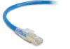 TAA GigaTrue 3 CAT6A 650-MHz Patch Cable (F/UTP), Slimline, Lockable, Blue, Custom Length -- C6APC80S-BL