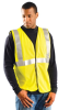OCCUNOMIX Yellow Solid Safety Vest - 1 Pockets - LUX-SSGC -- 021844-60616