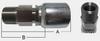 LONG HEX STAINLESS STEEL MPX & BOP METAL HOSE FERRULE -- SHFBW-16-16MPX