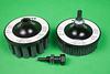 Abtex Hex-Drive™ Brushes, Silicon Carbide Rectangular Filament – V Tuft 1-1/2