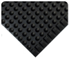 Wearwell Starting Line Black TPO Compound Raised Domes Anti-Fatigue Mat - 3 ft Width - 75 ft Length - 715411-67013 -- 715411-67013