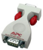 APC ProtectNet standalone surge protector for Serial RS232 lines (9 pin female to male) -- PS9-DTE