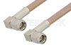 SMA Male Right Angle to SMA Male Right Angle Cable 36 Inch Length Using RG400 Coax, RoHS -- PE3713LF-36 -Image