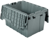 Akro-Mils Keepbox 12 gal 65 lb Gray Industrial Grade Polymer Attached Lid Container - 21 1/2 in Length - 15 in Width - 12 1/2 in Height - 39120 GREY -- 39120 GREY - Image