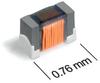 026011F (0603) Series Optimized Wirewound Ferrite Beads -- 026011F-101 - Image