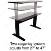 Sunway Adjustable Height Workstations -- SW-D-LF2430-E
