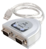 Cables To Go 2ft USB to 2-Port DB9 Serial Adapter Cable -- 26478