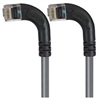 Category 5E Right Angle Patch Cable, RA Left Exit/RA Left Exit, Gray, 10.0 ft -- TRD815RA9GRY-10 -Image