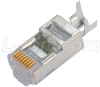 Cat 6 Shielded Modular Plug, RJ45 (8x8), for Large OD Conductors -- TSP8048C5S - Image