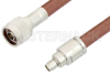 SMA Male to N Male Cable 24 Inch Length Using RG393 Coax -- PE3302-24 -Image