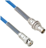 Plenum Cable Assembly TRB 3-Slot Plug to Non-Insulated Bulk Head 3-Lug Cable Jack with Bend Reliefs .242