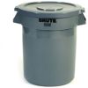 Rubbermaid® BRUTE® Round Container - 20 Gal., Gray -- 2620GR