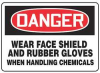 Danger Sign,10 x 14In,R and BK/WHT,ENG -- 8MXU0