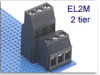 2-Tier Fixed Terminal Block -- EL2M Left Offset Series -- View Larger Image