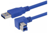 USB 3.0 A male to right angle right exit B male 2M -- MUS3A00029-2M -- View Larger Image