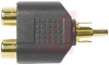 Adapter, RCA; RCA (F/M/F); Gold Plated Brass; Black -- 70197199 - Image