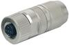 MOSA M12 female straight field-wireable (IDC) Slimline; 0,14-0,34qmm;shielded; 4-pol. -- 7000-12651-0000000 - Image