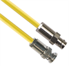 PL75-7 TRB Plug 3-Slot Male to CJ70-7 TRB Jack 3-Lug Female 75 Ohm TRC-75-2 Triaxial cable Yellow jacket 48-inch Triax Cable Assembly -- MP-2614-48 -Image