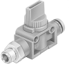 On off valve -- HE-3-1/4-QS-5/16-U -Image