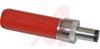 MINATURE POWER PLUG;2 CONDUCTORS;RED HANDL;SOLDER LUGS -- 70214510
