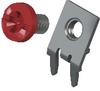 Slim-Line PC Screw Terminal, 60°- Unassembled w/ Red screw -- 8184-2 -Image