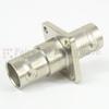 4 Hole Flange BNC Female (Jack) to BNC Female (Jack) Adapter, Nickel Plated Brass Body, 75 Ohm impedance, 1.2 VSWR -- SM3412 - Image