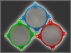 80mm Fan Filter - UV Green -- 40036