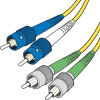 Corning 9/125 Single-mode ST-FC/APC Duplex Fiber Cable - Plenum-Rated -- 825-298-LLL - Image