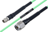 Temperature Conditioned SMA Male to TNC Male Low Loss Cable 18 Inch Length Using PE-P160LL Coax -- PE3M0183-18 -- View Larger Image