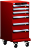L Cabinet with Partitions, Econo Lock-In (18