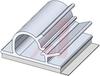 Clamp; Adhesive; 3/4 in.; 3/4 in.; 1/16in.; 1/2 in.; Gray -- 70209013 - Image