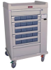 OptimAl Line, Aluminum 20 Bin Cassette Medication Cart .. -- ELP20CS -- View Larger Image