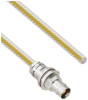 Teflon Jacket Free Cable Assembly TRB Non-Insulated Bulk Head Jack 3-Lug Cable Jack to Blunt .236