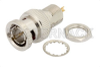 75 Ohm BNC Male Bulkhead Connector Solder Attachment Solder Cup Terminal, .350 inch D Hole -- PE4627 -Image