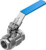 Ball valve -- VZBE-1-T-63-D-2-M-V15V15 -- View Larger Image