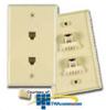 Allen Tel E-Z Duplex Flush Phone Wall Jack -- AT317 - Image