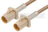 Beige FAKRA Plug to FAKRA Plug Cable 24 Inch Length Using RG316 Coax -- PE38755I-24 -Image